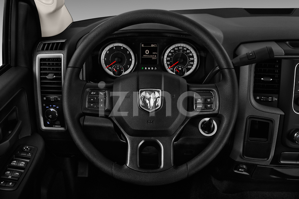 Car pictures of steering wheel view of a 2018 Ram Ram 2500 Pickup Tradesman 4wd Crew Cab LWB 4 Door Pick Up