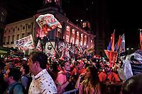 RIO DE JANEIRO, RJ, 01.10.2018 - ELEIÇÕES-2018 - Militantes do partido do PT lotaram a Praça ato político na Cinelândia, região central do Rio de Janeiro nesta segunda-feira, 01. (Foto: Vanessa Ataliba/Brazil Photo Press)