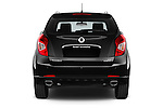 Straight rear view of2014 Ssangyong Korando Sapphire 5 Door SUV Rear View  stock images
