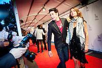 Utrecht, 22 september 2010.Nederlands Film Festival.Openingsavond met premiere Tirza.Acteur Daniel Boissevain met partner Vanessa op de rode loper.Foto Felix Kalkman
