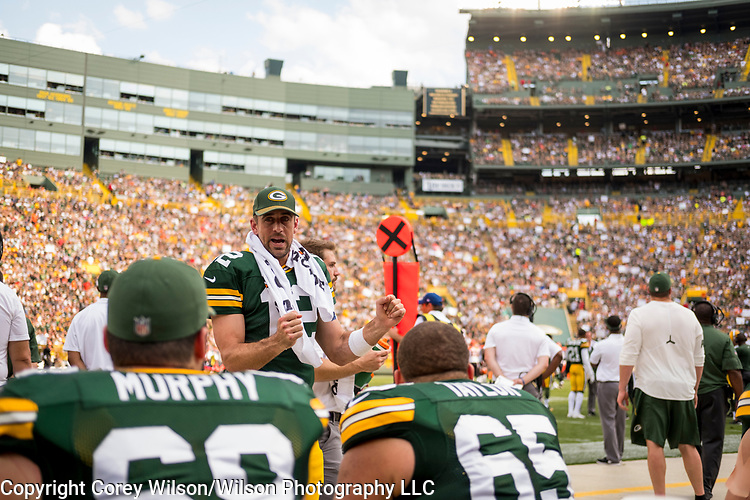 Green Bay Packers vs. Cincinnati Bengals at Lambeau Field in Green Bay, Wis., on September 24, 2017. The Packers won 27-24.