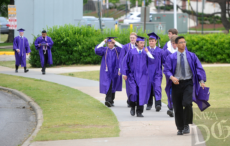 NWA Democrat-Gazette/MICHAEL WOODS &bull; @NWAMICHAELW<br /> The Fayetteville High School commencement Exercises Thursday May 19, 2016 at Bud Walton Arena in Fayetteville.