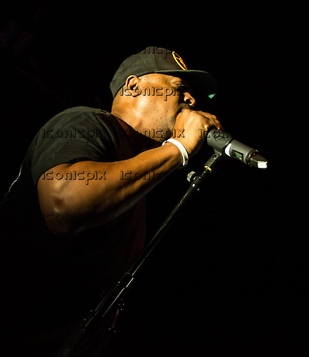 Public Enemy - rapper and vocalist Chuck D - performing live at Electric Brixton in London UK - 07 June 2014.  Photo credit: Iain Reid/IconicPix