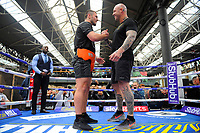 Dave Allen (L) and Lucas Brown during a Public Workout at Old Spitalfields Market on 12th April 2019