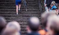 Nikki Brammeier (GBR) up the stairs. <br /> <br /> UEC CYCLO-CROSS EUROPEAN CHAMPIONSHIPS 2018<br /> 's-Hertogenbosch – The Netherlands<br /> Women's Elite Race