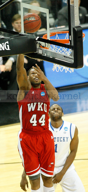 Western Kentucky forward George Fant shoots a layup during the UK vs. WKU NCAA second round game at the KFC Yum! Center March 15, 2012. Photo by Brandon Goodwin | Staff