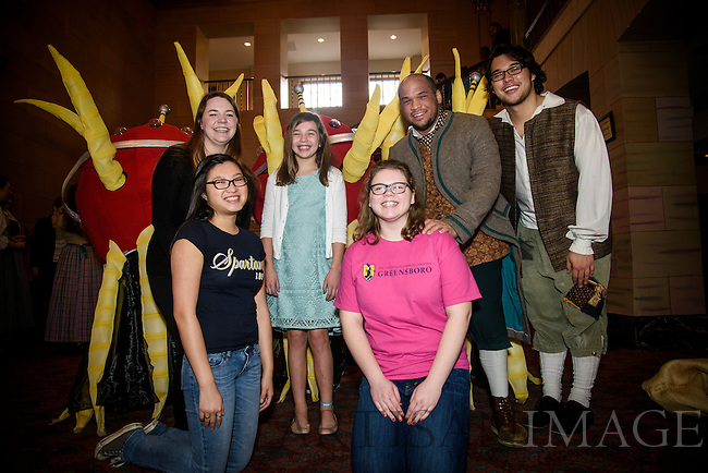UNCG's Opera program performs for Guilford County students at the Carolina Theatre on Tuesday, February 10, 2015.
