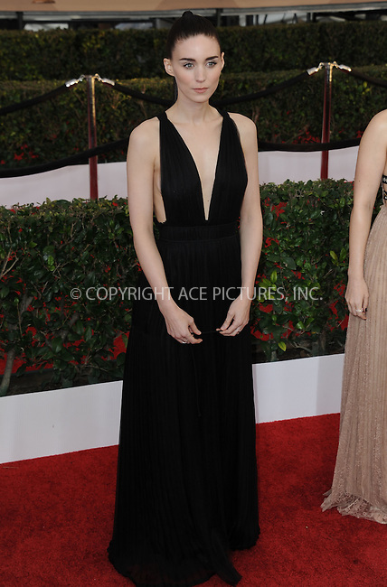 WWW.ACEPIXS.COM<br /> <br /> January 30 2016, LA<br /> <br /> Rooney Mara arriving at the 22nd Annual Screen Actors Guild Awards at the Shrine Auditorium on January 30, 2016 in Los Angeles, California<br /> <br /> By Line: Peter West/ACE Pictures<br /> <br /> <br /> ACE Pictures, Inc.<br /> tel: 646 769 0430<br /> Email: info@acepixs.com<br /> www.acepixs.com