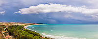 Sicily, panoramic photo of storm clouds over Capo Bianco Beach and the Mediterranean Sea in the Province of Agrigento, Sicily, Italy, Europe. This is a panoramic photo of storm clouds over Capo Bianco Beach and the Mediterranean Sea in the Province of Agrigento, Sicily, Italy, Europe.