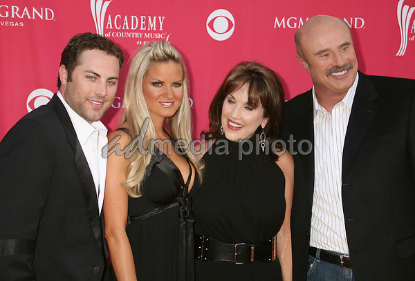 15 May 2007 - Las Vegas, Nevada - Jay McGraw and wife with Robin McGraw and Dr. Phil McGraw. 42nd Annual Academy Of Country Music Awards held at the MGM Grand Garden Arena. Photo Credit: Byron Purvis/AdMedia