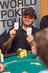 Sammy Touil shows his pocket Aces.