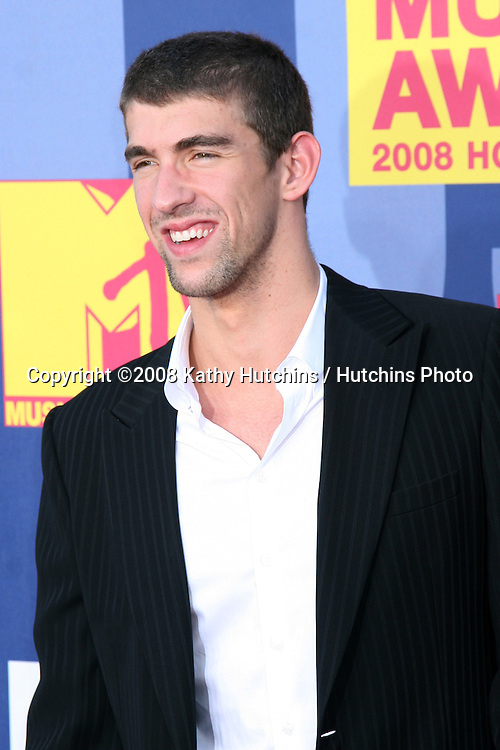 Michael Phelps arriving at  the Video Music Awards on MTV at Paramount Studios, in Los Angeles, CA on.September 7, 2008.©2008 Kathy Hutchins / Hutchins Photo....
