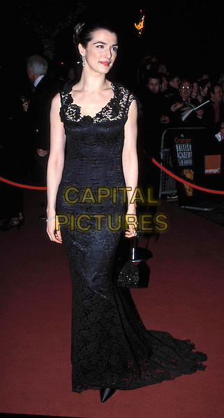 RACHEL WEISZ.at the British Academy Film & Television Awards, Odeon (Bafta Awards 2003), Leicester Square.Ref: AH.long black dress, lace, full length, full-length.www.capitalpictures.com.sales@capitalpictures.com.© Capital Pictures