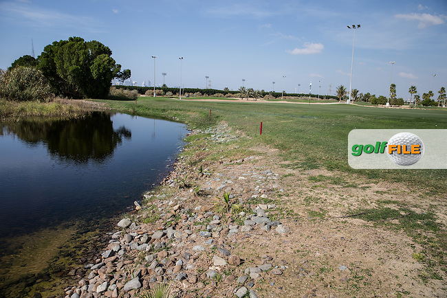 6th green, The Track at The Meydan Golf Club, Dubai, United Arab Emirates.  31/01/2016. Picture: Golffile | David Lloyd<br /> <br /> All photos usage must carry mandatory copyright credit (&copy; Golffile | David Lloyd)