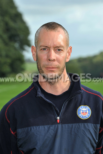 Martin Hobbs poses for a portrait at a squad photocall. Bath Rugby photocall on October 17, 2013 at Farleigh House in Bath, England. Photo by: Patrick Khachfe/Onside Images