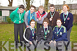 Students from Causeway Comprehensive school who took part in the Kerry Education Service Cross Country Championships on Thursday morning from front l-r were: Erica Griffin, Rebecca Horgan and Shaunagh Cunningham. Back l-r were: Jason Diggins, Niamh Leen, Robert Collins, Jack Goulding and Amy O'Sullivan.
