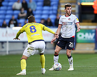 Bolton Wanderers' Joe Williams competing with Blackburn Rovers' Joe Rothwell<br /> <br /> Photographer Andrew Kearns/CameraSport<br /> <br /> The EFL Sky Bet Championship - Bolton Wanderers v Blackburn Rovers - Saturday 6th October 2018 - University of Bolton Stadium - Bolton<br /> <br /> World Copyright © 2018 CameraSport. All rights reserved. 43 Linden Ave. Countesthorpe. Leicester. England. LE8 5PG - Tel: +44 (0) 116 277 4147 - admin@camerasport.com - www.camerasport.com