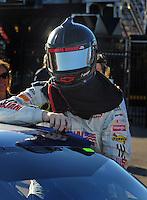 Feb 29, 2008; Las Vegas, NV, USA; NASCAR Sprint Cup Series driver Dale Earnhardt Jr during qualifying for the UAW Dodge 400 at Las Vegas Motor Speedway. Mandatory Credit: Mark J. Rebilas-