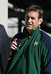 2 December 2006: Notre Dame head coach Randy Waldrum. The University of Notre Dame Fighting Irish held a press conference at SAS Stadium in Cary, North Carolina one day before playing in the NCAA Division I Women's College Cup championship game.