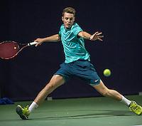 Hilversum, Netherlands, December 4, 2016, Winter Youth Circuit Masters, Dewey Wassermann (NED)<br /> Photo: Tennisimages/Henk Koster