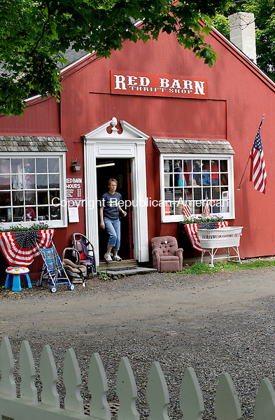 Woodbury, CT-22, May 2010-052210CM06 COUNTRY LIFE USE The Red Barn thrift shop was open during the Woodbury Bloomin Fair held at the First Congregational Church in Woodbury Saturday morning. --Christopher Massa Republican-American