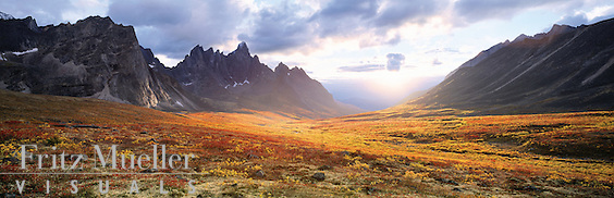 Sunset in the heart of Tombstone, Yukon