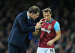 West Ham's Slaven Bilic talks to Mark Noble<br /> <br /> Barclays Premier League - West Ham United v Stoke City - Upton Park - England -12th December 2015 - Picture David Klein/Sportimage