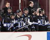 Jake Kauppila (Bentley - 19), Drew Callin (Bentley - 27), Ryan Soderquist (Bentley - Head Coach), Will Suter (Bentley - 10), Tyler Deresky (Bentley - 11), Ben Murphy (Bentley - Assistant Coach), ?, Tanner Jago (Bentley - 4) - The Bentley University Falcons defeated the Army West Point Black Knights 3-1 (EN) on Thursday, January 5, 2017, at Fenway Park in Boston, Massachusetts.The Bentley University Falcons defeated the Army West Point Black Knights 3-1 (EN) on Thursday, January 5, 2017, at Fenway Park in Boston, Massachusetts.