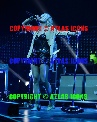 SUNRISE, FL - JULY 11: Emily Haines of Metric performs at the BB&T Center on July 11, 2015 in Sunrise, Florida.  (Photo by Larry Marano © 2015