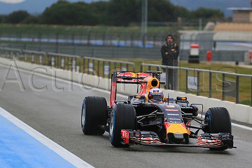 25.01.2016. Paul Ricard Circuit, Le Castellet, Marseille, France. F1 Tyre testing for teams with Pirelli.  Red Bull Racing RB11 – Daniel Ricciardo