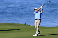 Corey Conners (CAN) plays his 2nd shot on the 10th hole at Pebble Beach course during Friday's Round 2 of the 2018 AT&amp;T Pebble Beach Pro-Am, held over 3 courses Pebble Beach, Spyglass Hill and Monterey, California, USA. 9th February 2018.<br /> Picture: Eoin Clarke | Golffile<br /> <br /> <br /> All photos usage must carry mandatory copyright credit (&copy; Golffile | Eoin Clarke)
