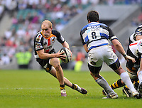 Photo: Tony Oudot/Richard Lane Photography. London Wasps v Bath Rugby. The St. George's Day Game. Guinness Premiership. 24/04/2010. .Joe Simpson goes on a run for Wasps.
