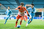 Jeju United FC Forward Hwang Ilsu (L) in action against Jiangsu FC Midfielder Yang Xiaotian (R) during the AFC Champions League 2017 Group H match between Jeju United FC (KOR) vs Jiangsu FC (CHN) at the Jeju World Cup Stadium on 22 February 2017 in Jeju, South Korea. Photo by Marcio Rodrigo Machado / Power Sport Images