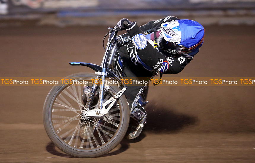 Adam Ellis of Lakeside Hammers - Lakeside Hammers vs Birmingham Brummies, Elite League Speedway at the Arena Essex Raceway, Pufleet - 11/04/14 - MANDATORY CREDIT: Rob Newell/TGSPHOTO - Self billing applies where appropriate - 0845 094 6026 - contact@tgsphoto.co.uk - NO UNPAID USE