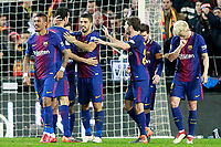 FC Barcelona's players celebrate goal during Spanish King's Cup Semi Final 2nd match. February 8,2018.  *** Local Caption *** © pixathlon<br /> Contact: +49-40-22 63 02 60 , info@pixathlon.de