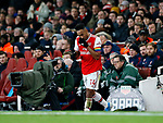Arsenal's Pierre-Emerick Aubameyang runs off to the dressing room during the Premier League match at the Emirates Stadium, London. Picture date: 5th December 2019. Picture credit should read: David Klein/Sportimage