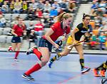 ROTTERDAM  - NK Zaalhockey,   halve finale dames Laren-Den Bosch. Laren wint. Elin van Erk (Lar)       COPYRIGHT KOEN SUYK