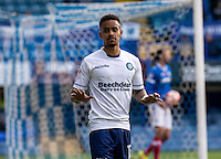 Paris Cowan-Hall of Wycombe Wanderers celebrates his goal during the FA Cup 1st round match between Portsmouth and Wycombe Wanderers at Fratton Park, Portsmouth, England on the 5th November 2016. Photo by Liam McAvoy.