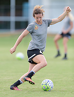 Houston, TX - Thursday Oct. 06, 2016: Elizabeth Eddy during training prior to the National Women's Soccer League (NWSL) Championship match between the Washington Spirit and the Western New York Flash at BBVA Compass Stadium.