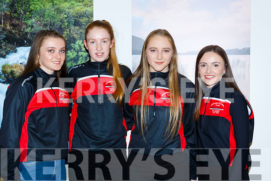 Ciara Browne, Annie O'Donoghue, Ciara Moynihan and Fiona Browne Workmens RC rowers that won the All Ireland Coastal championship received a Killarney Municipal District award in Killarney House on Friday night