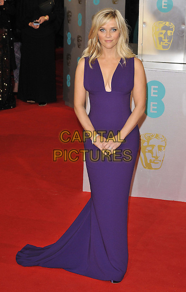 LONDON, ENGLAND - FEBRUARY 08: Reese Witherspoon attends the EE British Academy Film Awards 2015, Royal Opera House, Covent Garden, on Sunday February 08, 2015 in London, England, UK. <br /> CAP/CAN<br /> &copy;Can Nguyen/Capital Pictures