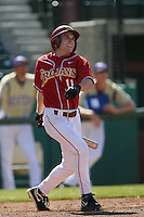 Mike O'Neill of the USC Trojans during game against the  Western Carolina Catamounts at Dedeaux Field in Los Angeles,CA.  Photo by Larry Goren/Four Seam Images