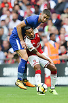 Theo Walcott of Arsenal and Gary Cahill of Chelsea during the The FA Community Shield match at Wembley Stadium, London. Picture date 6th August 2017. Picture credit should read: Charlie Forgham-Bailey/Sportimage