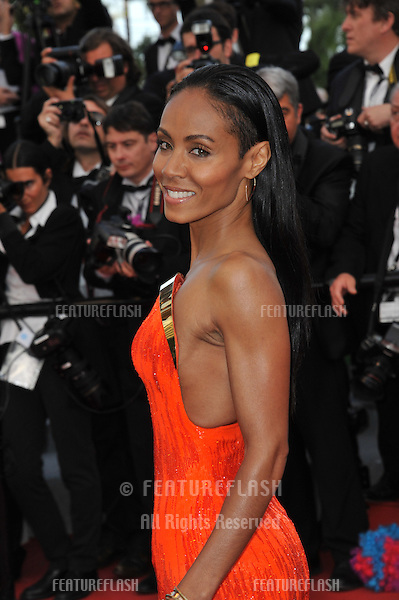 "Jada Pinkett Smith at the gala screening of ""Madagascar 3:Europe's Most Wanted"" at the 65th Festival de Cannes..May 18, 2012  Cannes, France.Picture: Paul Smith / Featureflash"