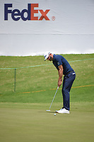 Dustin Johnson (USA) barley misses his birdie putt on 9 during round 4 of the WGC FedEx St. Jude Invitational, TPC Southwind, Memphis, Tennessee, USA. 7/28/2019.<br /> Picture Ken Murray / Golffile.ie<br /> <br /> All photo usage must carry mandatory copyright credit (© Golffile | Ken Murray)