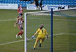 Olivia Ferguson of Sheffield Utd scores the second goal during the The FA Women's Championship match at the Proact Stadium, Chesterfield. Picture date: 8th December 2019. Picture credit should read: Simon Bellis/Sportimage