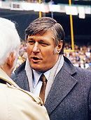Retired Washington Redskins quarterback Billy Kilmer (17) on the sidelines prior to the NFC Championship Game at RFK Stadium in Washington, DC on January 23, 1983.<br /> Credit: Arnie Sachs / CNP