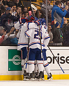 Michael Kapla (UML - 3), John Edwardh (UML - 29) The University of Massachusetts-Lowell River Hawks defeated the Boston College Eagles 4-3 to win the 2017 Hockey East tournament at TD Garden on Saturday, March 18, 2017, in Boston, Massachusetts.