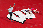 MADISON, WI - JANUARY 19: Kyle Ruschell of the Wisconsin Badgers wrestling team against the Penn State Nittany Lions at the Field House on January 19, 2007 in Madison, Wisconsin. The Badgers beat the Nittany Lions 17-16. (Photo by David Stluka)