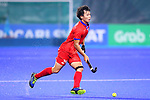 Hirotaka Zendana (JPN), <br /> SEPTEMBER 1, 2018 - Hockey : <br /> Men's Final match between <br /> Japan 6-6(3-1) Malaysia <br /> at Gelora Bung Karno Hockey Field <br /> during the 2018 Jakarta Palembang Asian Games <br /> in Jakarta, Indonesia. <br /> (Photo by Naoki Nishimura/AFLO SPORT)